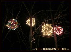 How to make giant lighted ornament balls tutorials craft and yule outdoor lighted xmas balls aloadofball Choice Image