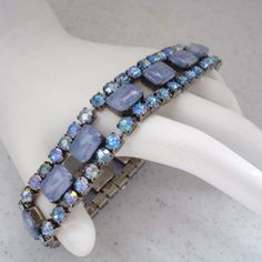 Violet and Icy Blue Expansion Bracelet from This Old Attic on Ruby Lane