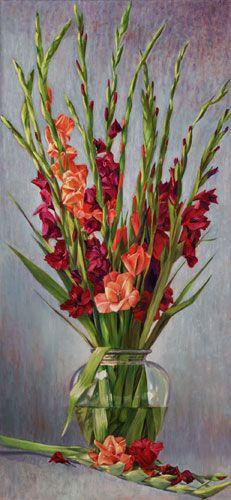 Gladiole, gemalt in Öl - Porträts und Fine Art von Nancy Tilles | #Gladiole #Inspiration