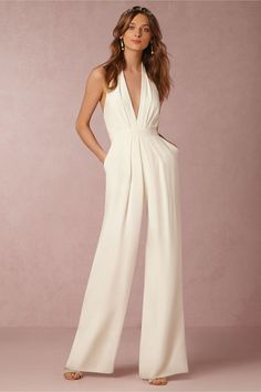 Plunging and Pleated - Edgy and Elegant Wedding Suits for the Alternative Bride - Photos
