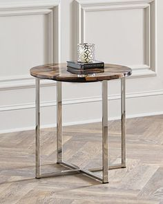 Shop Tessa Petrified Wood Side Table from Interlude Home at Horchow, where you'll find new lower shipping on hundreds of home furnishings and gifts. Brass Side Table, Wood End Tables, Table Legs, Side Tables, Brown Furniture, Wood Furniture, Furniture Design, Petrified Wood Table, Indoor Outdoor Furniture