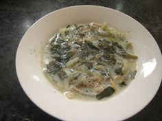 Yellow dock clam soup.  My husbands a clam chowder fan.  I wonder if he'd like this.
