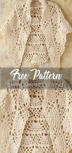 Most up-to-date Absolutely Free vintage Crochet Patterns Thoughts Shawl Vintage Lovers – Pattern Free – Easy Crochet Crochet Crafts, Crochet Lace, Crochet Stitches, Easy Crochet Shawl, Crotchet, Crochet Shawls And Wraps, Crochet Scarves, Scarves & Shawls, Scarfs