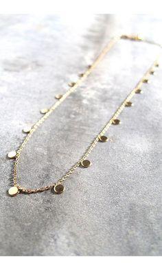 Stalactite collier sequin Josephine    #necklace #stalactitebijoux #stalactiteparis #madeinfrance #madeinparis #sequins #finesse #collier