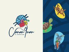 Bu logo tasarımı amigurumi sanatçısı Canan İnan adına hazırlandı. Organik el örmesi peluş ikonları kullandığımız pattern ise ambalaj tasarımı ve benzer zeminlerde kullanılmak üzere tasarlandı. Art, Illustration, Adobe Illustrator