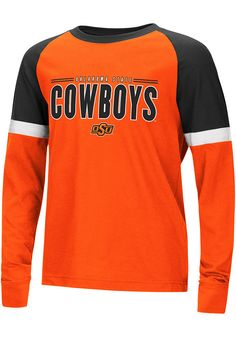 4ad6d95ef Colosseum Oklahoma State Cowboys Youth Orange Ollie Long Sleeve Fashion T- Shirt - 15038735