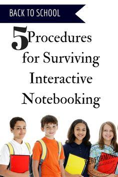 Back to school procedures for interactive notebooks!