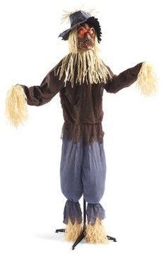 Scarecrows pumpkins and roads on pinterest for Animated scarecrow decoration
