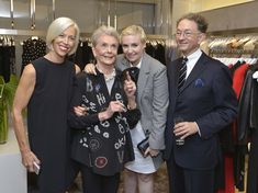 "Linda Fargo Photos Photos - Linda Fargo, Betty Halbreich, Lena Dunham and William Ivey Long attend the Bergdorf Goodman And Michael Kors Celebration of Betty Halbreich's New Memoir, ""I'll Drink To That: A Life in Style with a Twist"" on September 4, 2014 in New York City. - Bergdorf Goodman And Michael Kors Celebrate Betty Halbreich's New Memoir, ""I'll Drink To That: A Life in Style with a Twist"""