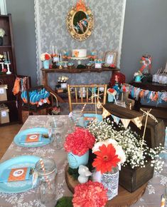 Lovely table at a rustic Brave birthday party! See more party ideas at CatchMyParty.com!