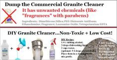 DIY Non-Toxic, EFFECTIVE* and Low-Cost Granite Cleaner!   (*way better than commercial version)