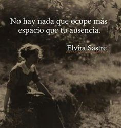 Elvira Sastre.