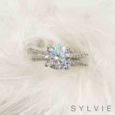 Surprise her with a sparkling split shank engagement ring from Sylvie! Split Shank Engagement Rings, Just Engaged, Dress Rings, Designer Engagement Rings, Diamond Shapes, Jewelry Stores, Heart Ring, Gold Rings, Fine Jewelry
