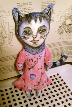 Katze liebt Fisch. von Galerie MIZUMI auf DaWanda.com