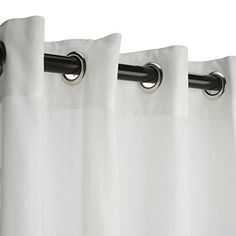 Outdoor Curtains - Sunbrella Outdoor Curtain with Grommets Nickle GrommetsSheer Snow *** Read more reviews of the product by visiting the link on the image. (This is an Amazon affiliate link)