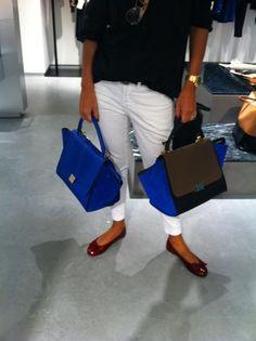 celine royal blue luggage