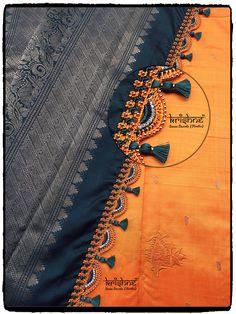 Wedding Silk Saree Tassel Kuchu Saree Kuchu New Designs, Saree Tassels Designs, Best Blouse Designs, Wedding Saree Blouse Designs, Wedding Silk Saree, Hand Work Blouse Design, Stylish Blouse Design, Blouse Designs Catalogue, Balochi Dress