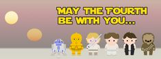 Celebrate Star Wars Day! (850x315) Facebook cover photo sized, to share on your page!