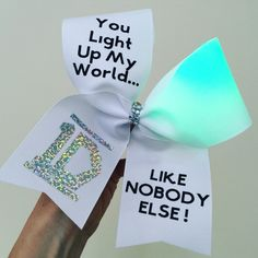 One Direction Light Up COLOR CHANGING cheer Bow! Ponytail Holder Attached! Stiff! FREE SHIPPING!