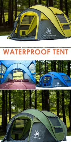 Outdoor automatic tents-speed-open-throwing-pop-up-windproof,waterproof camping tent