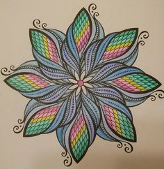 Flowers I Color With Gelly Roll Pens Pg From The Colorama Coloring