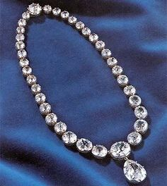 Swedish crown jewels diamond collet necklace with pendant