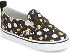 Vans 'V' Slip-On Sneaker (Toddler)