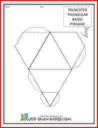 Truncated Square Based Pyramid net | Paper Models - Games ...