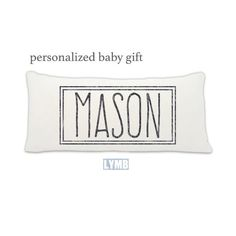 """personalized baby gift, baby gift, baby pillow, name definition, personalized baby name, newborn pillow, personalized pillow, """"mason"""" by LoveYouMoreBoutique on Etsy"""