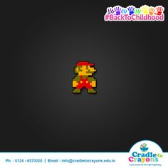 #BackToChildhood Do you remember this famous video game character? #puzzle #kids #children #child #parents #toddler #kindergarten http://cradletocrayons.edu.in/