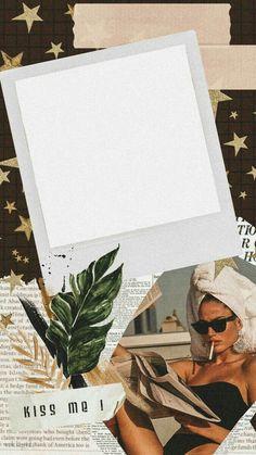 Creative Instagram Stories, Instagram Story Ideas, Polaroid Picture Frame, Instagram Frame Template, Polaroid Template, Photo Collage Template, Instagram Background, Collage Background, Framed Wallpaper