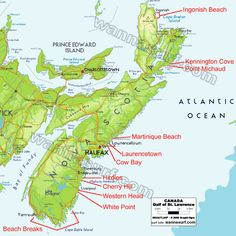 Nova Scotia Surfing spots