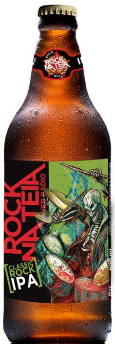 Cerveja Rock na Teia Classic Rock IPA, estilo India Pale Ale (IPA), produzida por Cervejaria Dortmund, Brasil. 6.5% ABV de álcool.