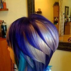 #Awesome #Blue #and #white #short #hair.