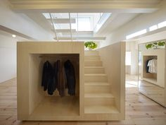 interesting volume with stair  torafu architects: house in megurohoncho