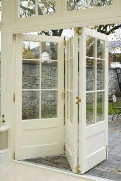 Gorgeous Bi-Fold FRENCH DOORS ... FROM: bi-fold doors by ferenew