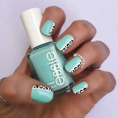 Excellent Pretty nails are readily available on our website. Read more and you wont be sorry you did. Essie Pink Nail Polish, Nail Polishes, Nail Nail, Mint Nails, Acryl Nails, Pretty Nail Art, Acrylic Nail Designs, Mint Nail Designs, Cute Toenail Designs