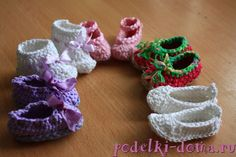 Knitted shoes for dolls DIY