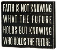 Got to have faith!
