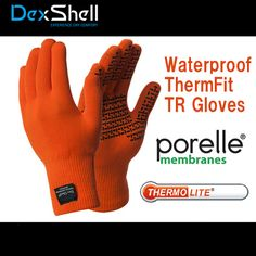 Thermfit Waterproof Gloves in Tangelo red