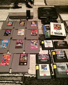 Curious one by th3p0w3rc0upl3 #retrogames #microhobbit (o) http://ift.tt/2dWuweq tagged us to show off our best score so we're posting the very first pickup we ever made when we started collecting. We got the NES the Sega Genesis & all of these games for $100!  We're tagging @wildcardvideogames @mattofthestoneage @bellasgamerdad @raz_law @seanoharee & @bobbydeliciousnes.
