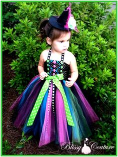 The Wickediest Witch Tutu Dress Costume Halloween YOU CHOOSE COLORS.