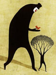 Tree 167 by Toni Demuro Art Drawings Beautiful, Amazing Drawings, Illustrations, Illustration Art, Concept Art, Cool Art, Poster, Photoshop, Sketches