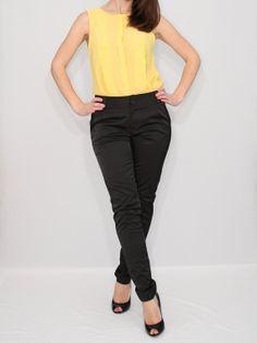 Black Cigarette Pants Skinny Pants for Women
