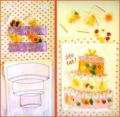 moje pasje. . .: * quiet book 3# Decorate a cake