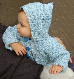 Puffin Toddler Hoodie  Knitting Needle Size: 10 or 6 mm    Yarn Weight: (5) Bulky/Chunky (12-15 stitches for 4 inches)
