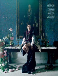 "LOVE Magazine #8 ""Waltz Darling"" Feat. Kate Moss, Marlon Richards, Lady Rose Hanbury & Lady Elizabeth Longman by Tim Walker"