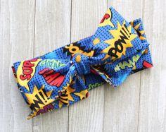 Comic head wraps bow top knot