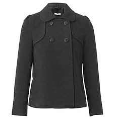 Ladies'+Classic+Winter+Swing+Coat+-+Dark+Grey