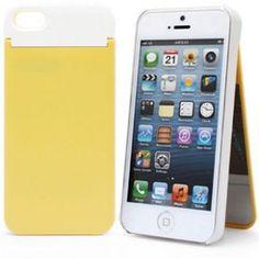 Deksel til iPhone 5 med speil og kortholder - gul